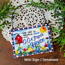 GiGi Papa NAME Wooden Ornament Decorative Greetings USA New MINI SIGN DecoWords