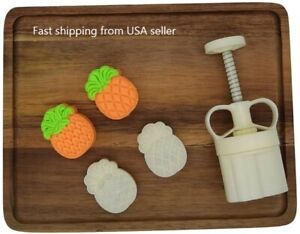 Moon Cake Mold 50g Cookie 3D Stamps Pineapple Shape, Thickness Adjustable