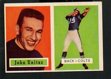 1957 Topps Football Card #138 Johnny Unitas-Baltimore Colts- Rookie Card