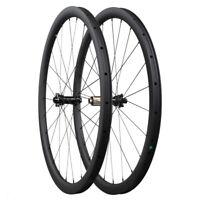 700c road bike carbon fiber wheelset 30/40/45/55mm cyclecross gravel bike