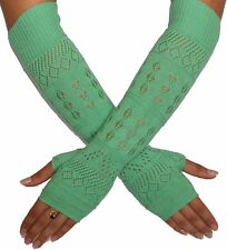 Cashmere Silk Long Texting Gloves in a custom gift box. Mint