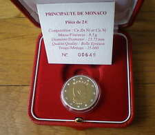 Monaco 2 Euro BE 2010 Uncirculated in Box and Caps Prince Albert
