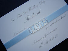 Personalised Card For Husband To Be On Our Wedding Day : The Promise