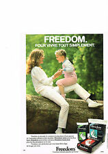 PUBLICITE ADVERTISING   1979   KOTEX   FREEDOM