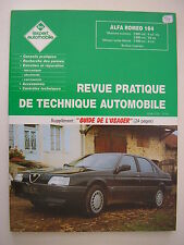 Revue technique automobile RTA Alfa Roméo 164 essence et turbo diesel