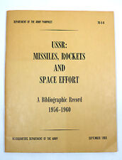 Army Field Training Manual - Army Pamphlet 70-5-8 USSR Missiles Rockets & Space