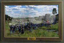 Museum SIze 4th Main- Valley of Death Gettysburg Framed Ltd/ed Civil War Giclee
