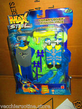 MATTEL MAX STEEL COMBAT DIVER MISSION PACK OUTFIT HARPOON LOUNCHING WEAPON
