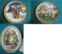 HUMMEL CENTURY PLATE DANBURY MINT RIDE INTO CHRISTMAS/WE WISH YOU THE BEST/SWEET