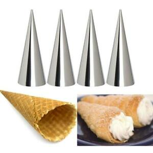 12x Steel Pastry Cream Horn Molds Conical Cone Mould Baking Tool New AU