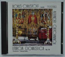 Boris Christoff sings GRETCHANINOV Liturgia Domestica - Balkanton CD