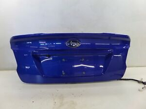 Subaru Impreza WRX STI Trunk Lid Blue VA 15-20 OEM Spoiler Removed Can Ship