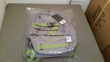 NWT QUIKSILVER Gray,Neon Green,& Black Backback Bookbag