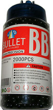 1 Tub of 2000 Black 0.15g Plastic 6mm BB Gun Pellets - Fits most BB Guns - New
