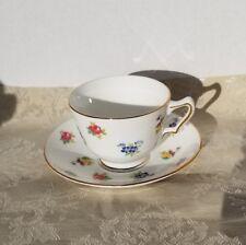 Vintage Crown Staffordshire Fine Bone China Teacup/Saucer England