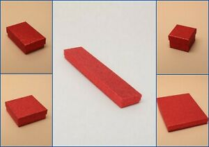 Red Glitter Boxes Flocked Pad Jewellery Gift Favour Present Shop Wholesale
