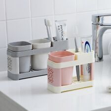 Toothbrush Toothpaste Stand Holder Bathroom Storage Organizer Rack Multicolor