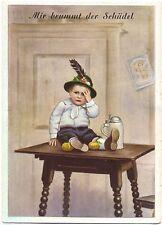 Junge in Trachtenkleidung, Bier, Bierkrug, ca. 50er Jahre