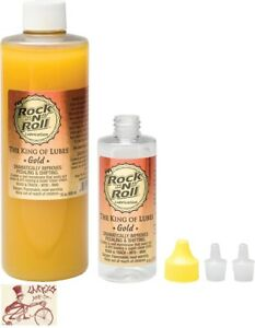 ROCK-N-ROLL GOLD BICYCLE LUBE LUBRICANT--16oz