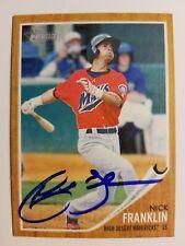 Nick Franklin High Desert  Mavs 2011 Topps Heritage autographed Baseball Card