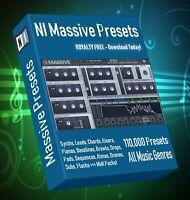 130,000+ NI Massive Synth Presets - LOGIC ABLETON FL STUDIO CUBASE REASON SONAR