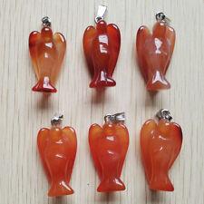 Fashion natural red agate Big Angel Pendants Charms 6pcs/lot Wholesale