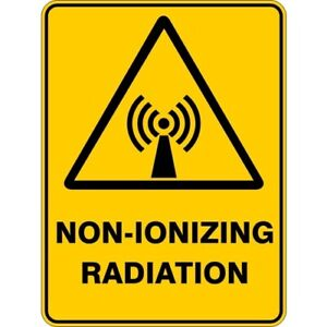 NON IONIZING RADIATION - SELF ADHESIVE STICKER / DECAL / SIGN | HEALTH & SAFETY