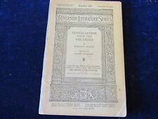 1896 Riverside Literature Series #100 Conciliation with the Colonies Burke   A78