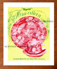 Rare TEPCO Restaurant Ware CATALOG ARTWORK HAWAIIAN Pattern + Price List