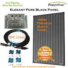 100w 100 Watt Solar Panel Charging Charge Kit 12v Battery RV Boat