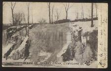 Postcard CORTLAND Ohio/OH  Walnut Creek Winter Ice Scene 1906