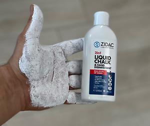 Zidac 200ml Liquid Chalk Gymnastics Rock Climbing Gym Sport Hand Mega Grip UK