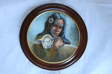 PERILLO LIMITED EDITION COLLECTORS PLATE LILY OF THE MOHAWKS IN WOOD FRAME