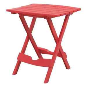 Adams USA Quik-Fold Side Table Cherry Red