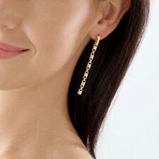 Michael Kors 14k Gold Plated Sterling Silver Mercer Link Earring MKC1012 $195