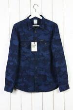 Camisas casuales de hombre en color principal azul talla XXL