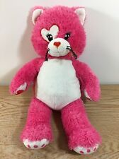 "Build a Bear KISSES FUR U Pink Cat 17"" Plush"