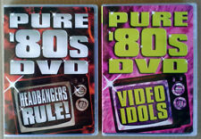 PURE '80S DVD - HEADBANGERS RULE + VIDEO IDOLS - (2) DVD LOT - HIP-O