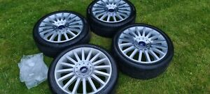 """Ford 18"""" ST Alloy wheels and tyres 225/40/18 st220 Mondeo diamond cut new caps"""