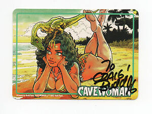 Cavewoman Promo Card (1996) Signed by Creator Artist Budd Root Caliber Comics NM