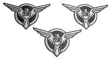"""Marvel's Agent Carter SSR 4"""" Wide Embroidered Iron On Patch Set of 3 Patches"""
