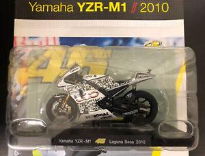 Modellino Moto  Valentino Rossi Yamaha M1 2010 Lacuna Seca  1/18 +Scheda