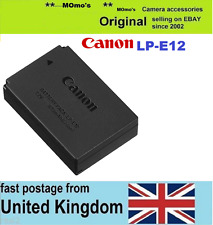 Original CANON LP-E12 Battery EOS 100D EOS- M M2 M10 EOS-100D Rebel SL1 Kiss X7