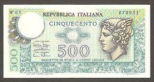 500 lire MERCURIO serie speciale sostitutiva W 05 RARA 1974 Replacement Italy