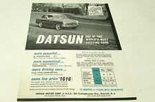 1963 ? DATSUN  Sales Brochure FAIRLADY SPORTS Patrol Pickup etc