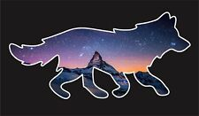3M Cosmic Forest Night Wolf Peel and Stick Car Bumper Window Sticker Decal