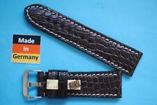Real Croco Strap 24mm Brown Deutscher Hersteller
