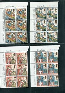 GB Commemoratives 1997 Religious Anniversaries in Cylinder Blocks of 6