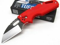 COLD STEEL Red TUFF LITE Straight AUS8A Steel Folding Pocket Knife New! 20LTR