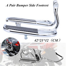 2PCS Stainless Motorcycles Left+Right Front Rider Floorboards Foot Boards Pedal